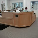 wood library desk