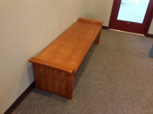 wood library bench